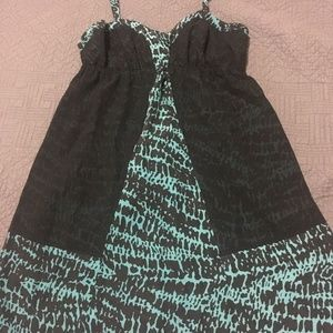 silence + noise Dresses - UO Black and Teal dress